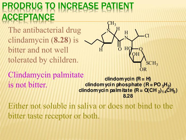 Prodrug to Increase Patient Acceptance