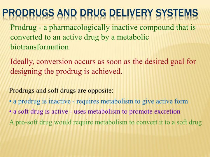 Prodrugs and drug delivery systems