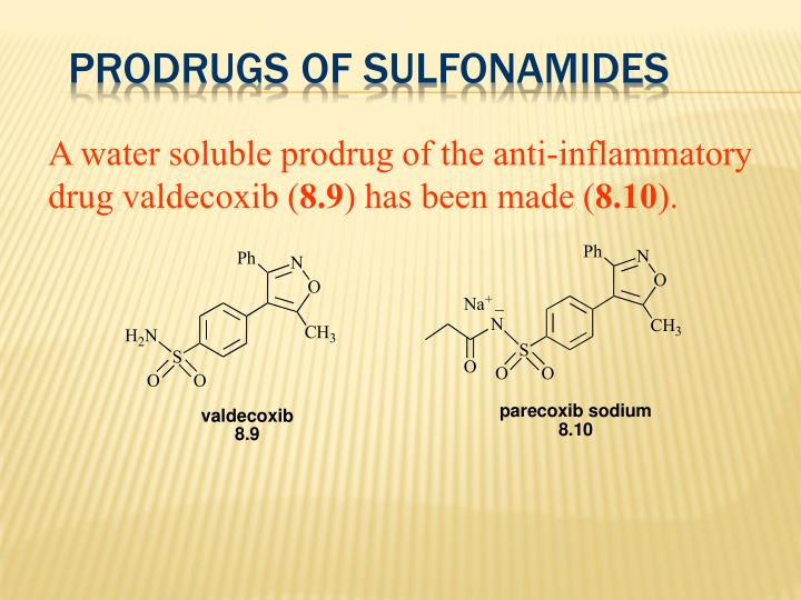 Prodrugs of Sulfonamides
