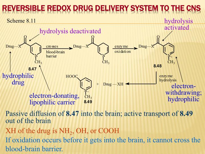 Reversible Redox Drug Delivery System to the CNS
