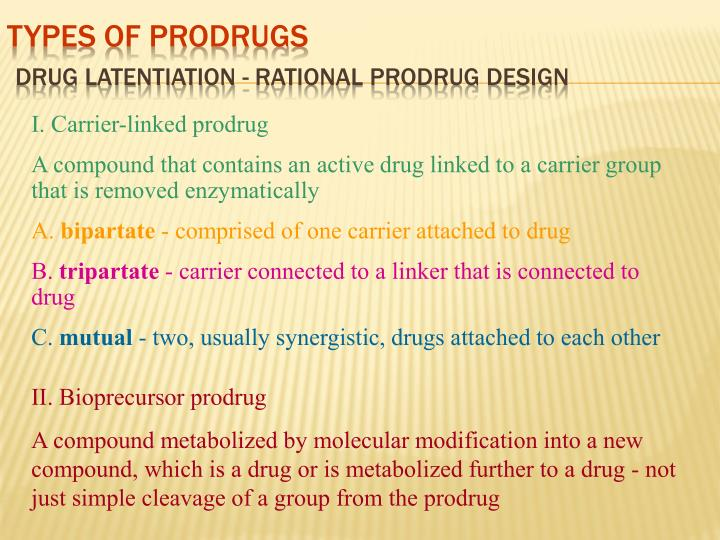 Types of Prodrugs