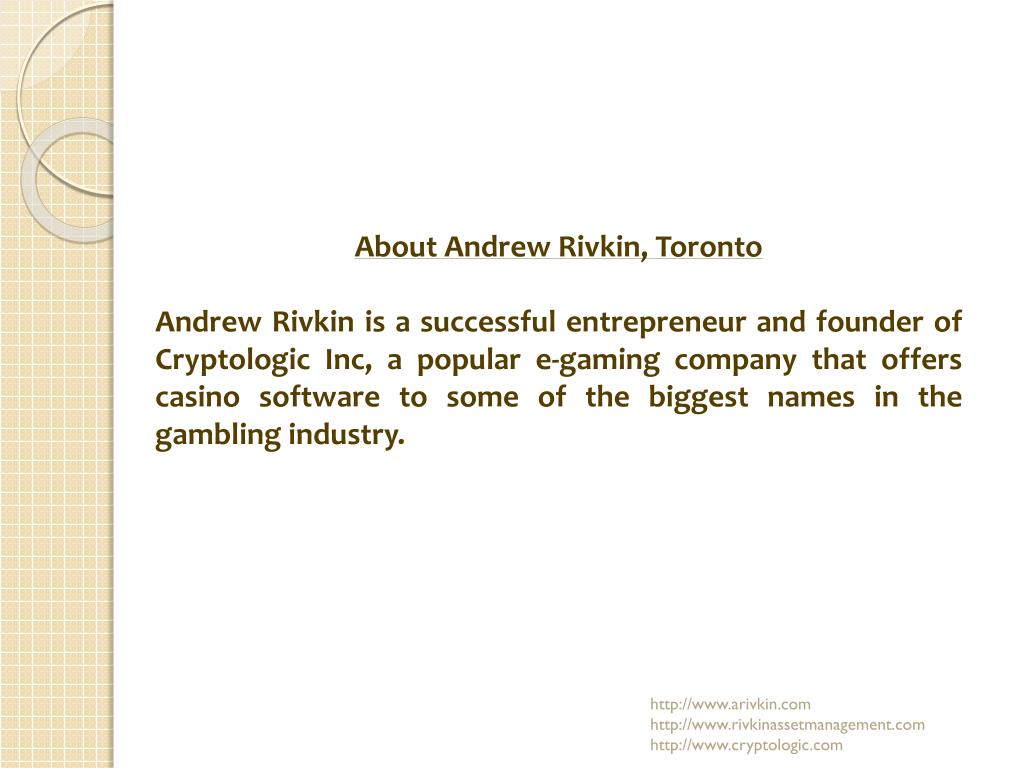 About Andrew Rivkin, Toronto