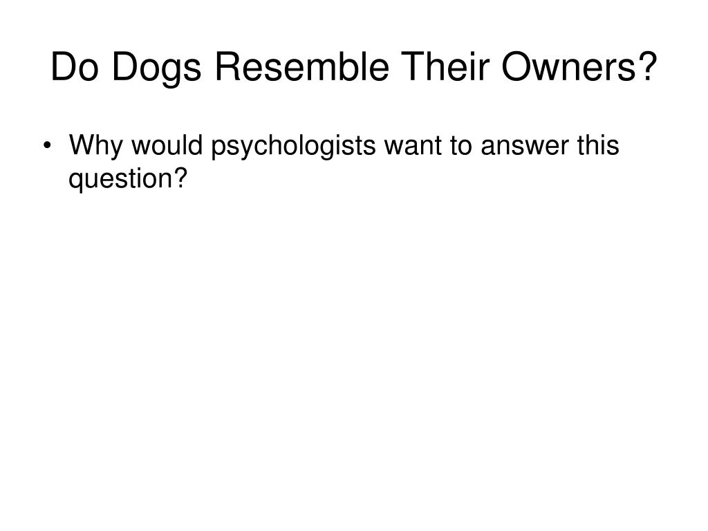 Do Dogs Resemble Their Owners?