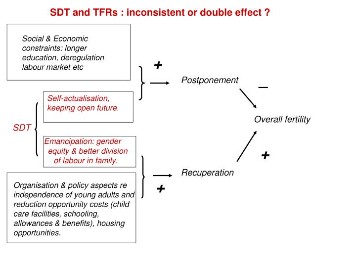 SDT and TFRs : inconsistent or double effect ?