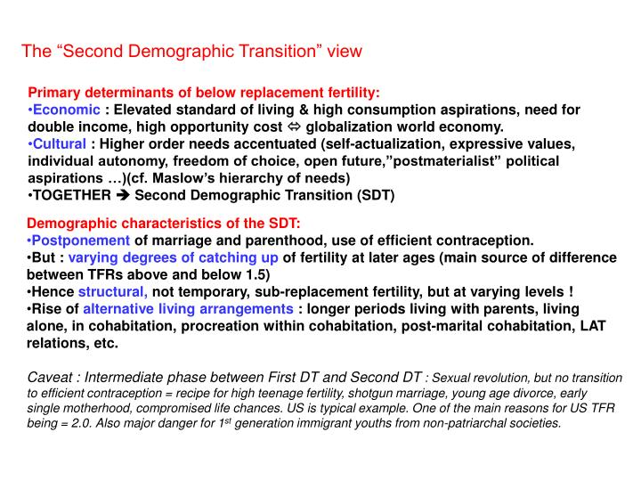 "The ""Second Demographic Transition"" view"