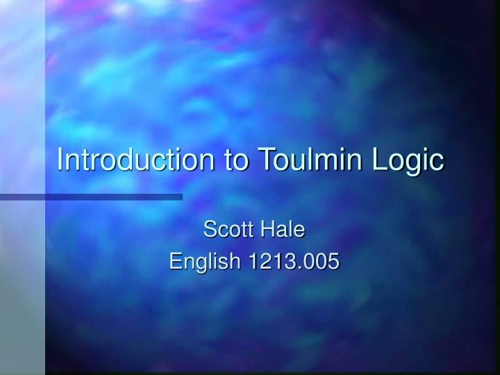 Introduction to toulmin logic