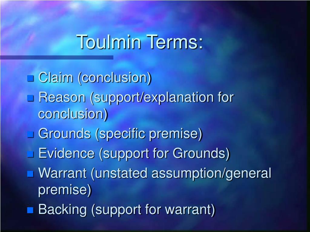 Toulmin Terms: