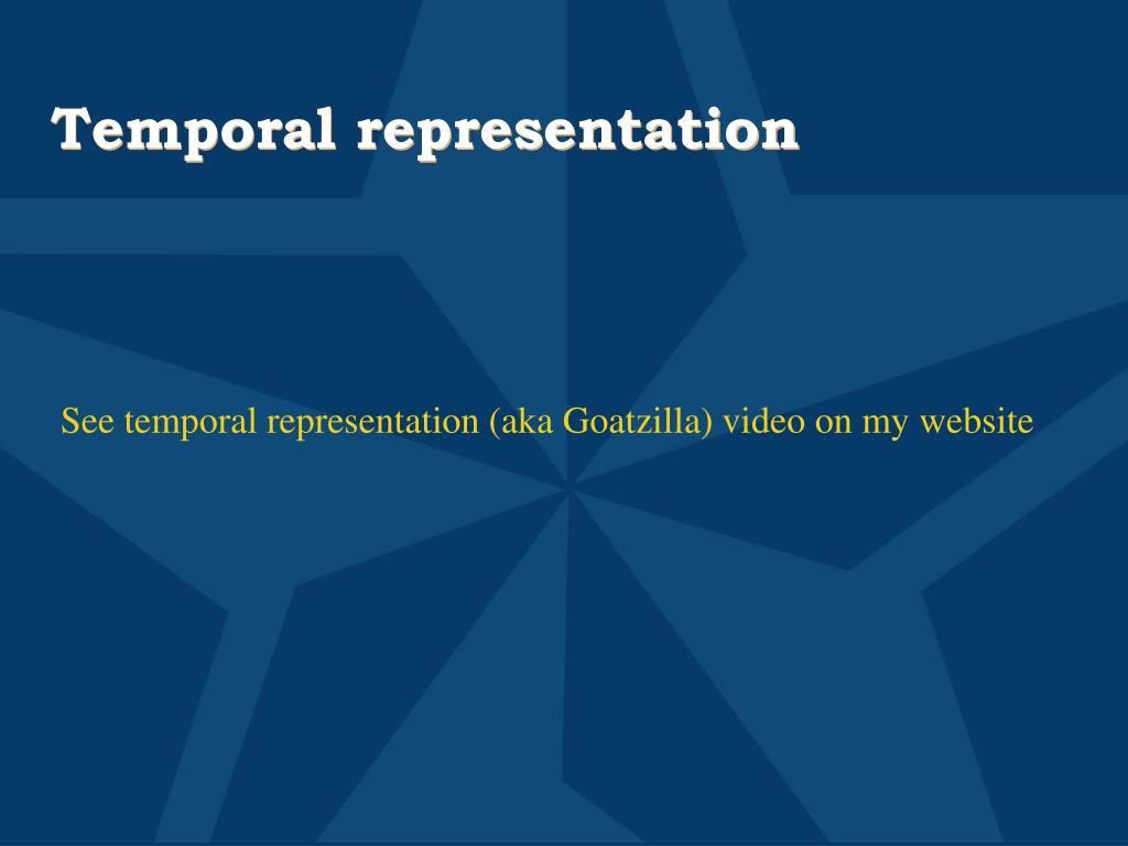 Temporal representation
