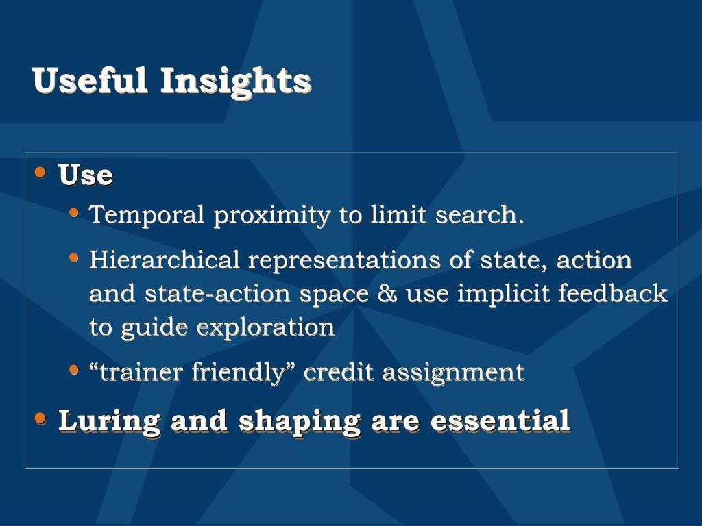 Useful Insights