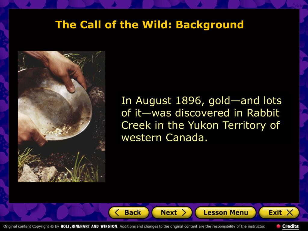 The Call of the Wild: Background