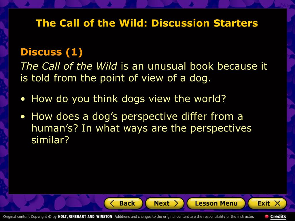 The Call of the Wild: Discussion Starters