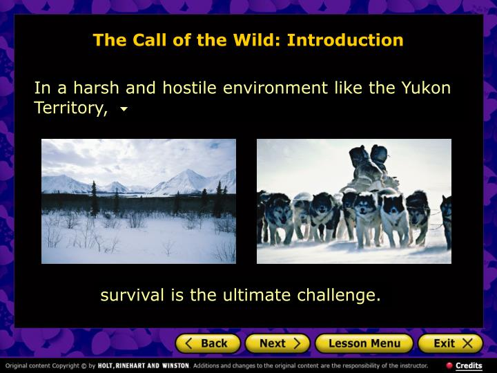 The call of the wild introduction l.jpg
