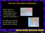 the call of the wild introduction5