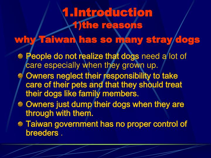 1 introduction 1 the reasons why taiwan has so many stray dogs