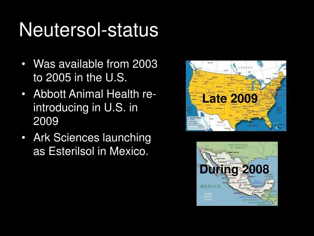 Neutersol-status