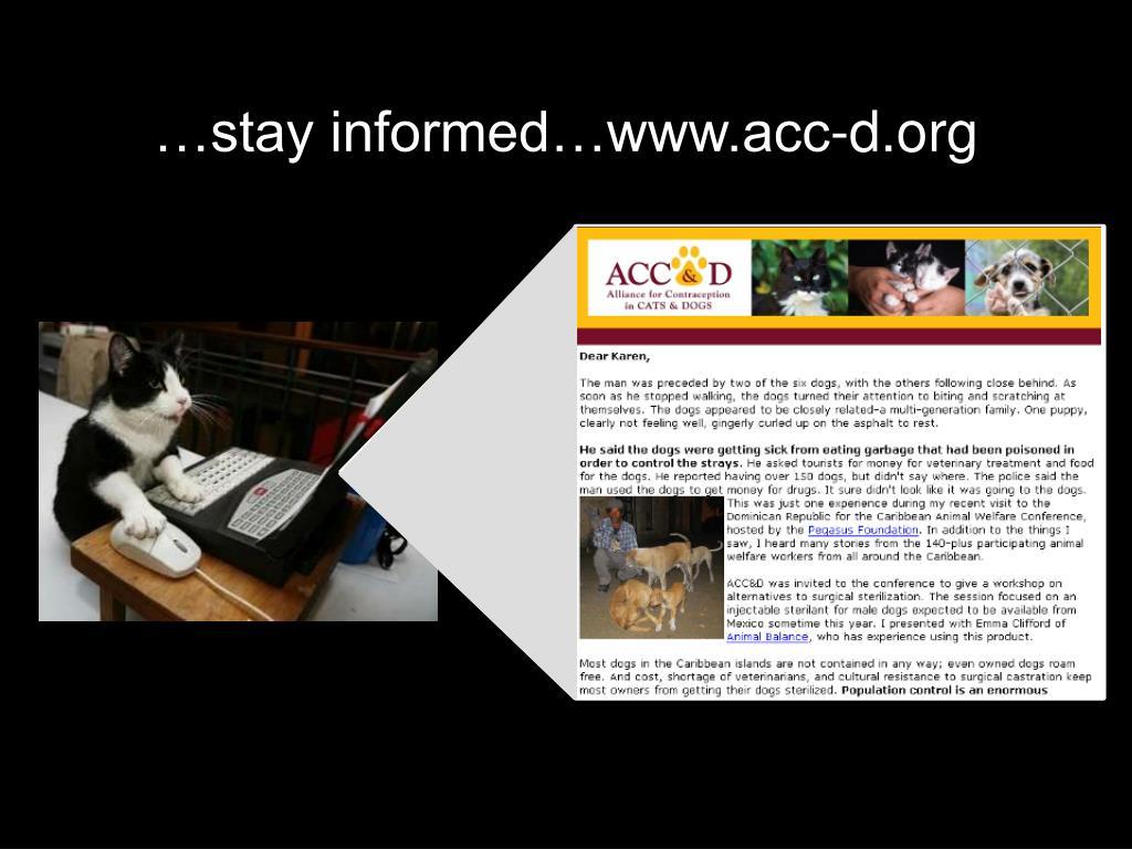 …stay informed…www.acc-d.org
