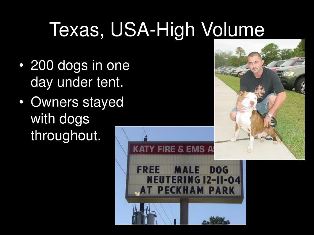Texas, USA-High Volume