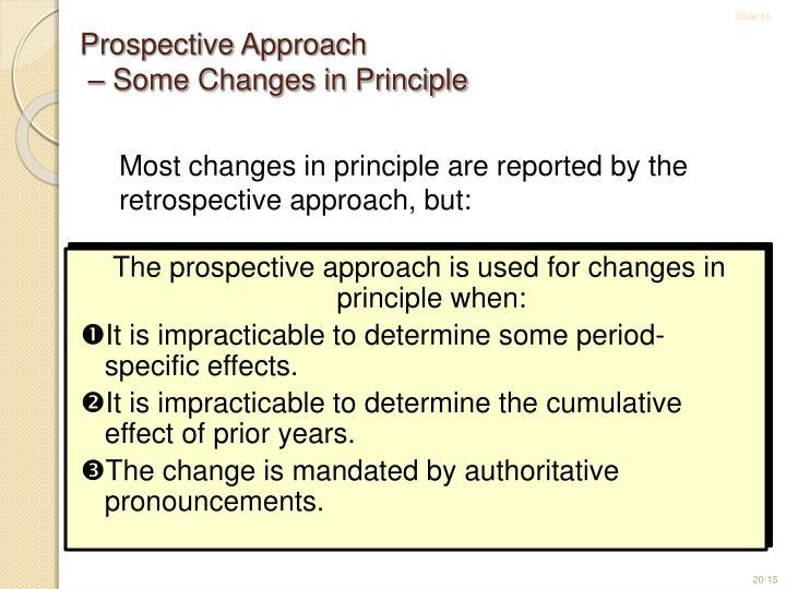 Prospective Approach