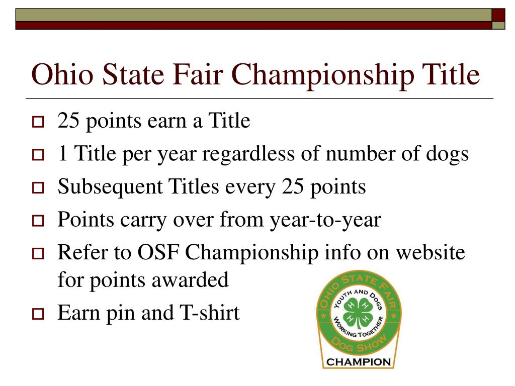 Ohio State Fair Championship Title