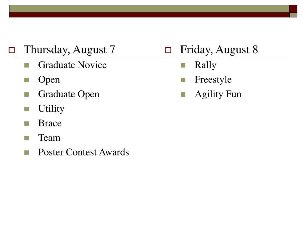 Thursday, August 7