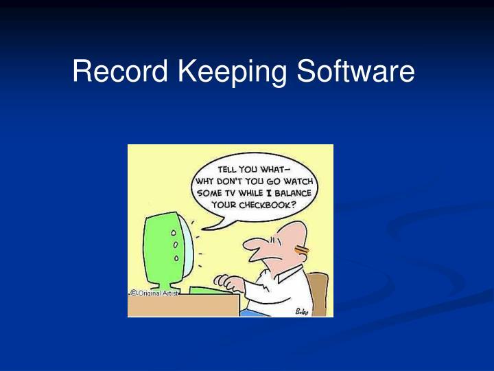 Record Keeping Software