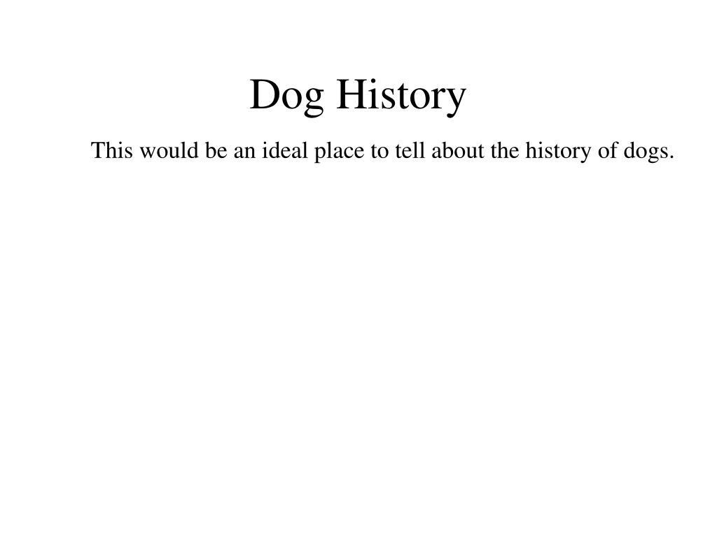 Dog History