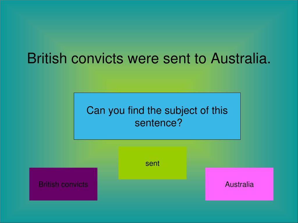 British convicts were sent to Australia.