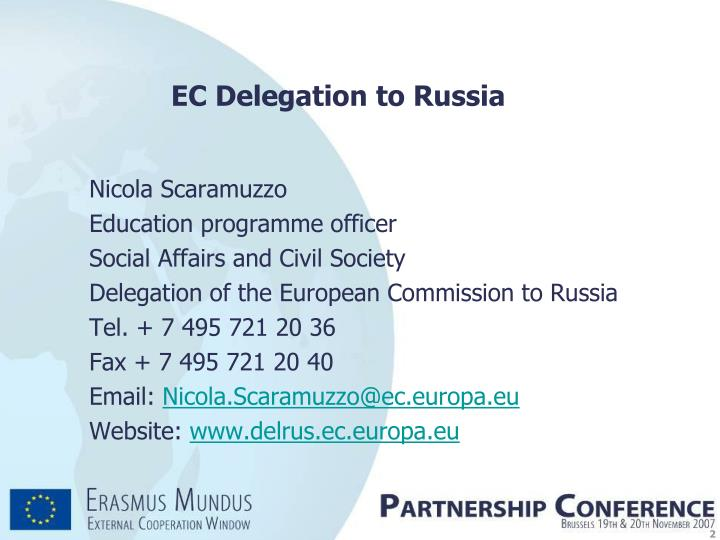 Ec delegation to russia