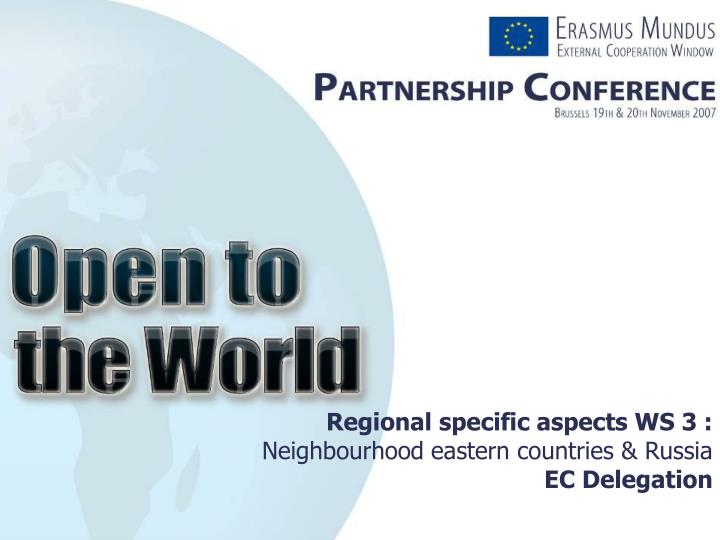 Regional specific aspects ws 3 neighbourhood eastern countries russia ec delegation