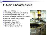 1 main characteristics