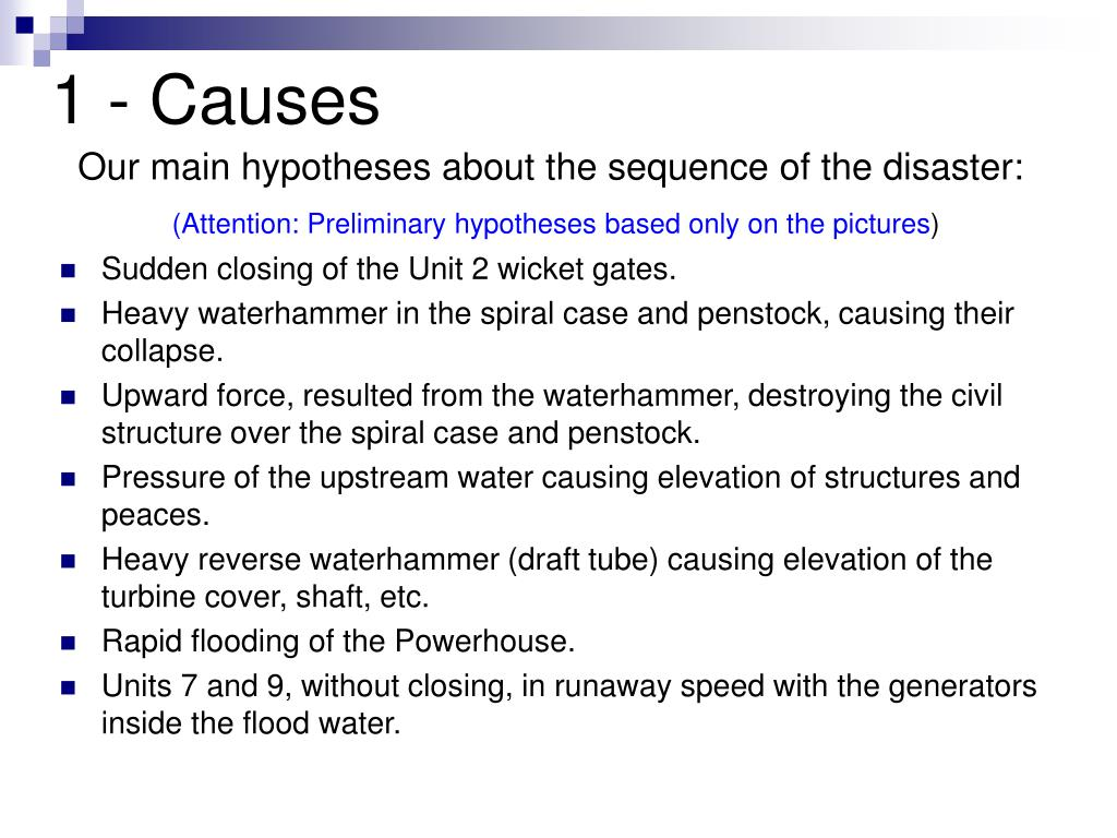 1 - Causes