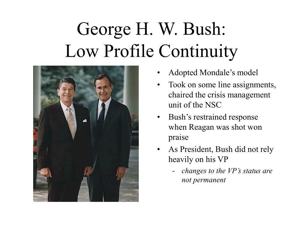 George H. W. Bush: