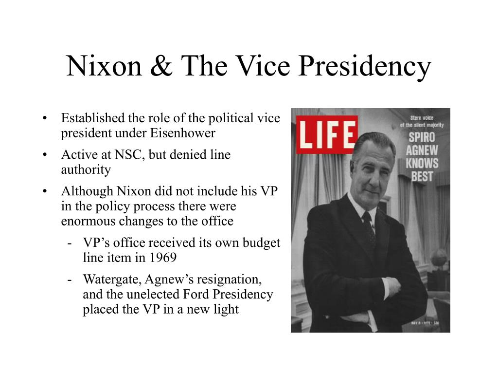 Nixon & The Vice Presidency