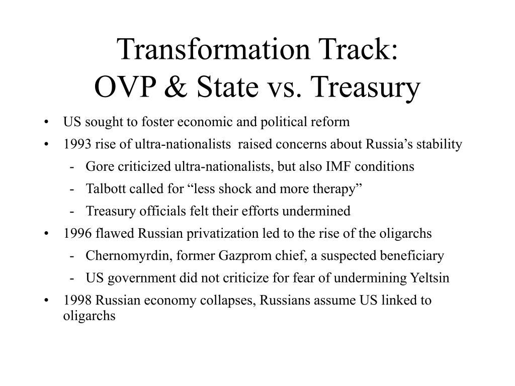Transformation Track:
