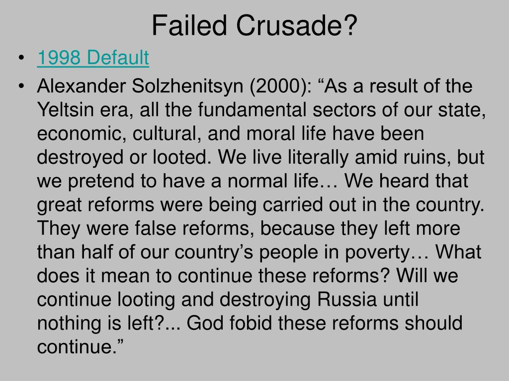 Failed Crusade?