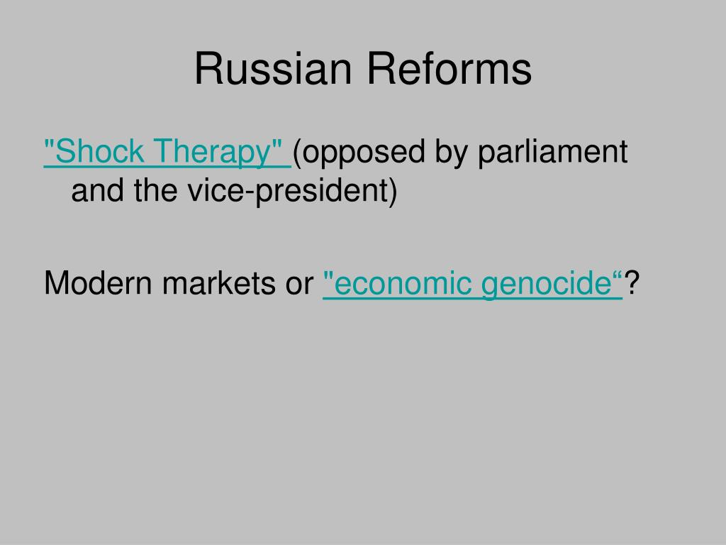 Russian Reforms