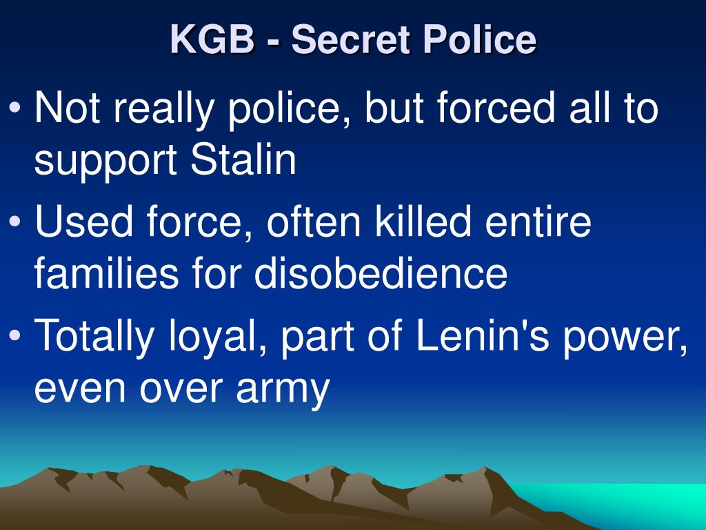 KGB - Secret Police