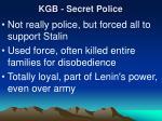kgb secret police