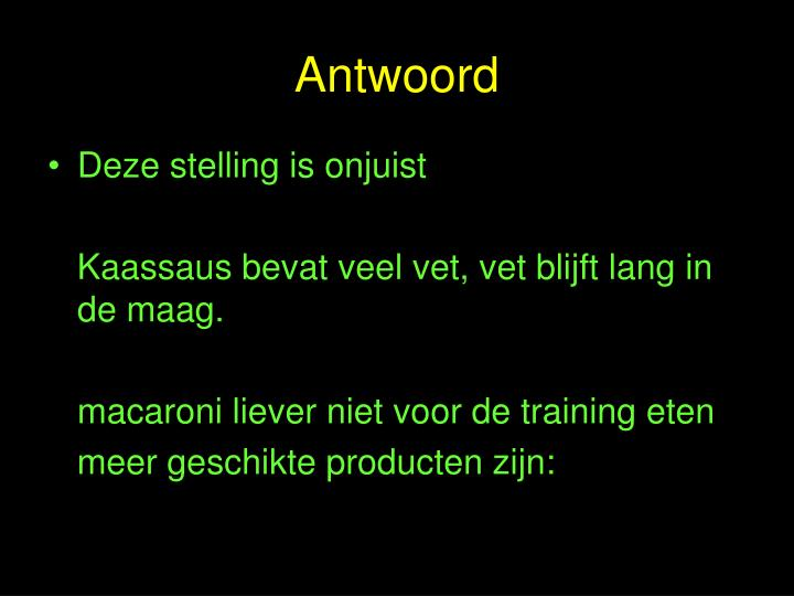 Antwoord