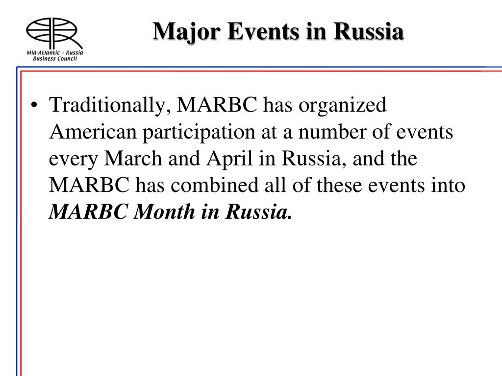 Major Events in Russia