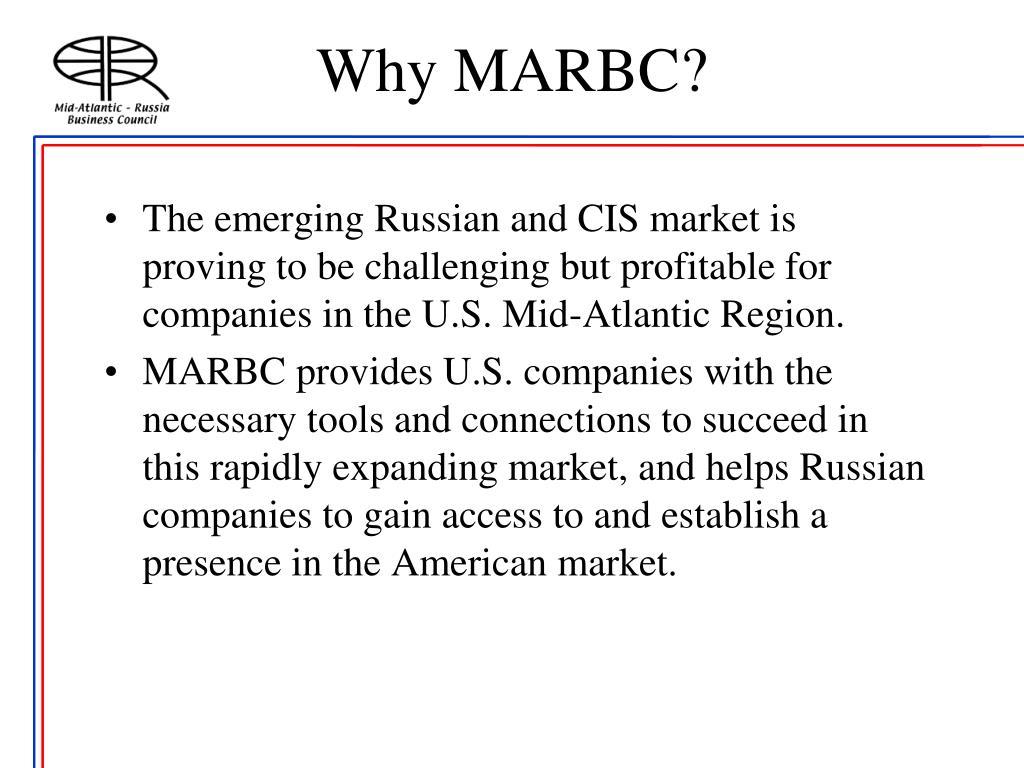 Why MARBC?