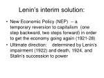 lenin s interim solution