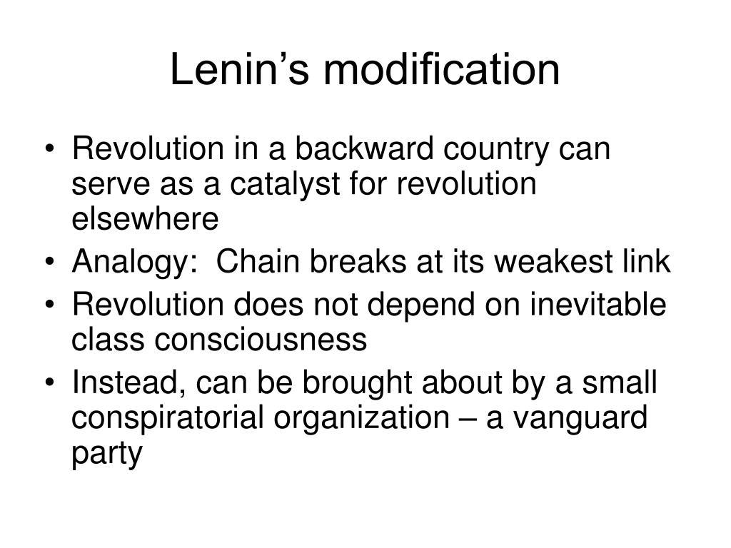Lenin's modification