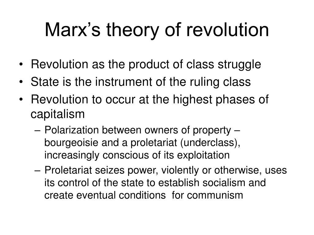 Marx's theory of revolution