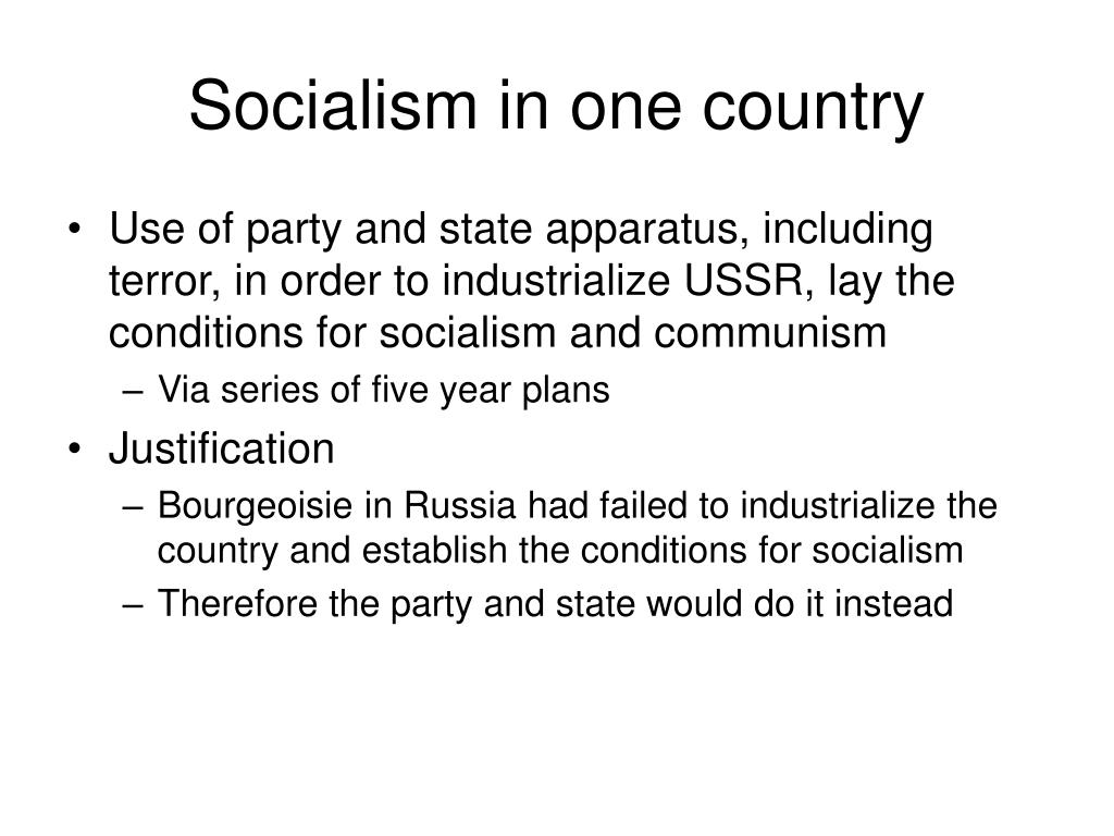 Socialism in one country