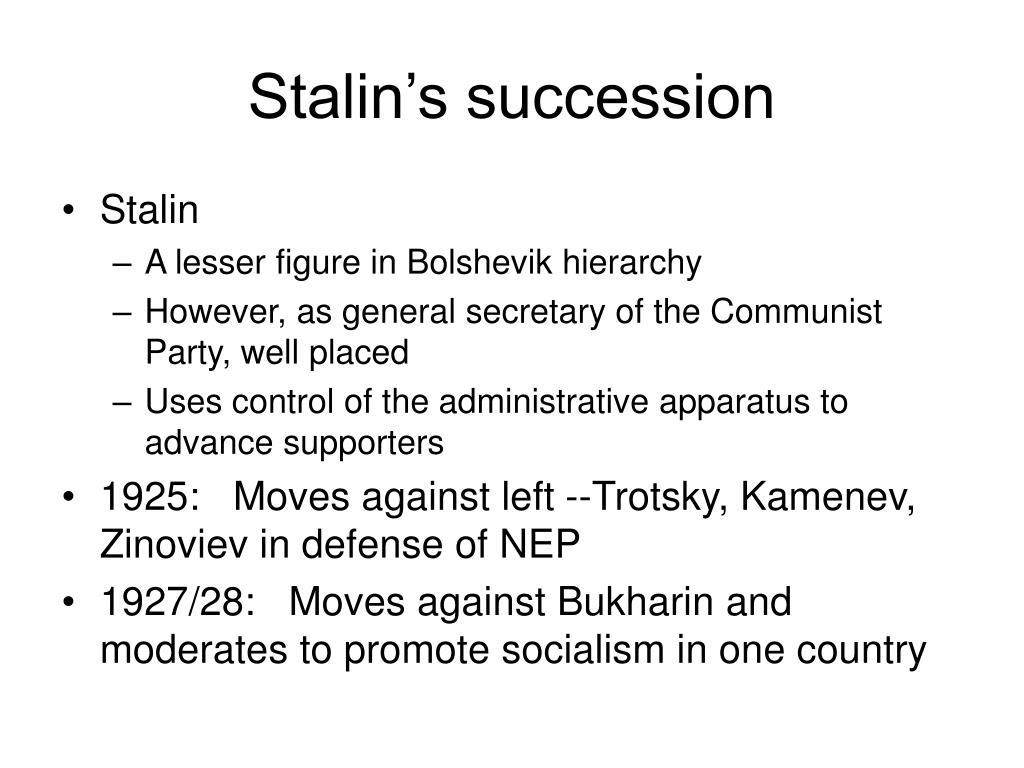 Stalin's succession