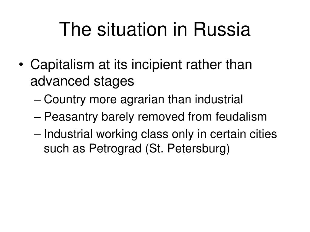 The situation in Russia