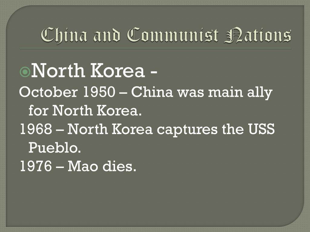 China and Communist Nations
