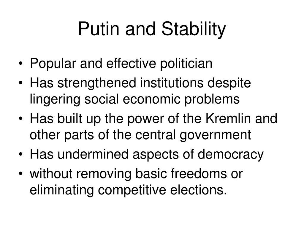 Putin and Stability
