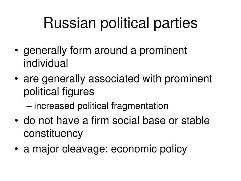 Russian political parties